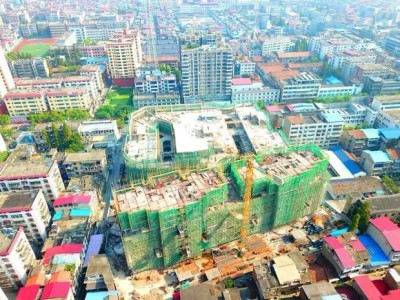 南县南洲城市广场2019年8月高空全景